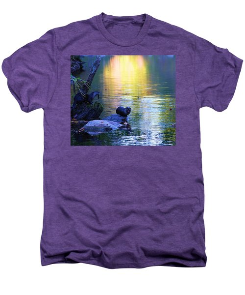 Otter Family Men's Premium T-Shirt by Dan Sproul