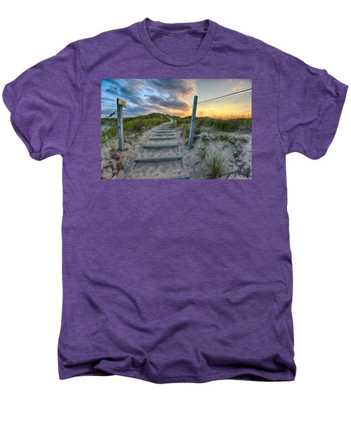 Path Over The Dunes Men's Premium T-Shirt by Sebastian Musial