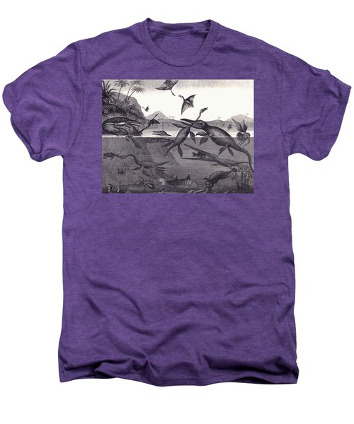 Prehistoric Animals Of The Lias Group Men's Premium T-Shirt by English School