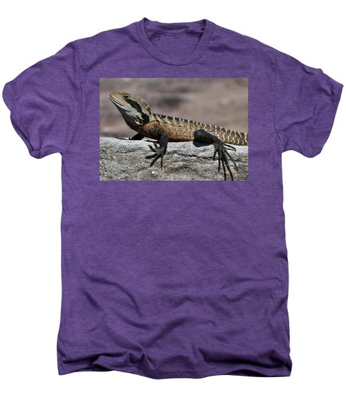 Men's Premium T-Shirt featuring the photograph Profile Of A Waterdragon by Miroslava Jurcik