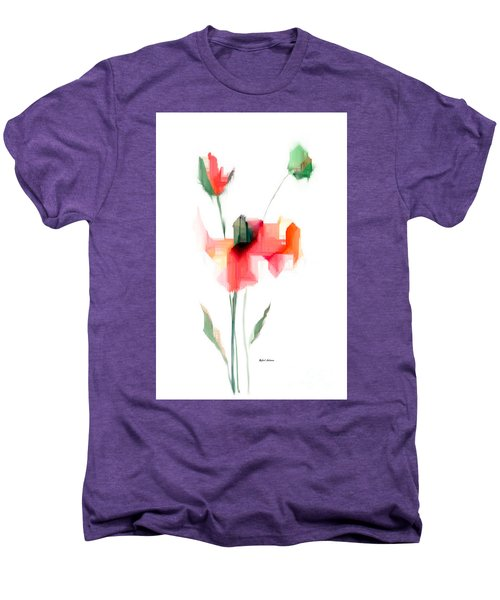 Red Flowers Men's Premium T-Shirt