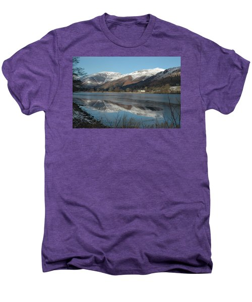 Snow Lake Reflections Men's Premium T-Shirt by Kathy Spall