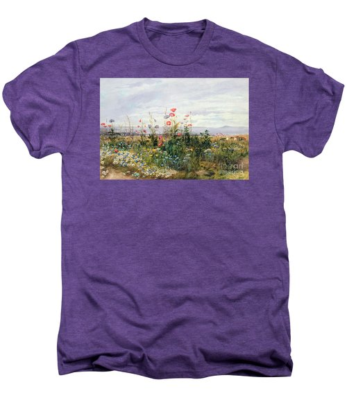 Wildflowers With A View Of Dublin Dunleary Men's Premium T-Shirt