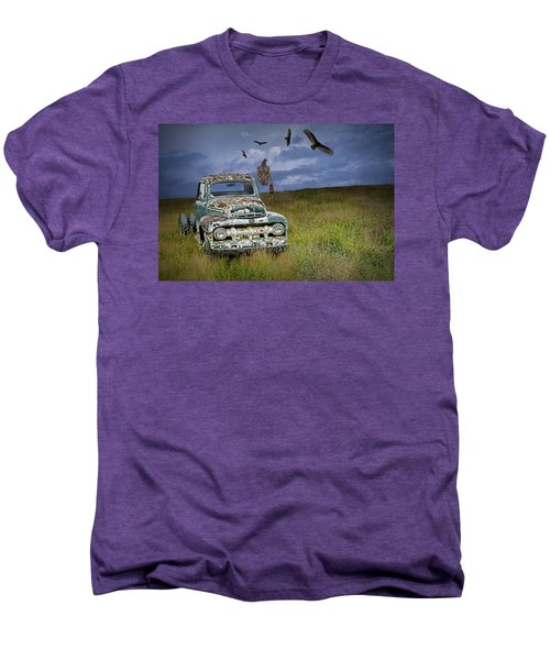 Vultures And The Abandoned Truck Men's Premium T-Shirt