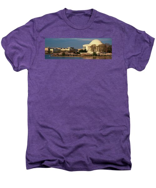 Panoramic View Of Jefferson Memorial Men's Premium T-Shirt by Panoramic Images