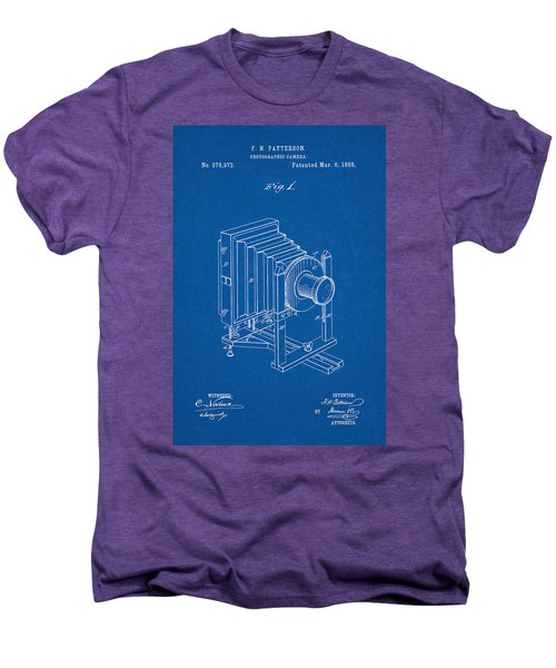 1888 Camera Us Patent Invention Drawing - Blueprint Men's Premium T-Shirt