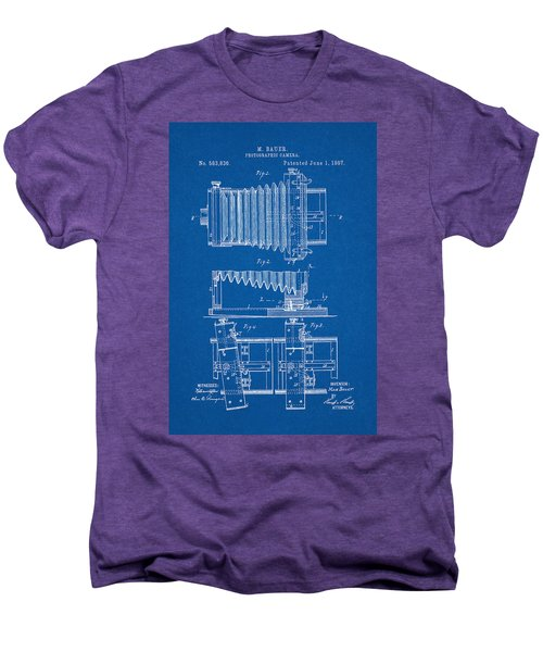 1897 Camera Us Patent Invention Drawing - Blueprint Men's Premium T-Shirt