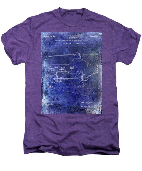 1953 Helicopter Patent Blue Men's Premium T-Shirt