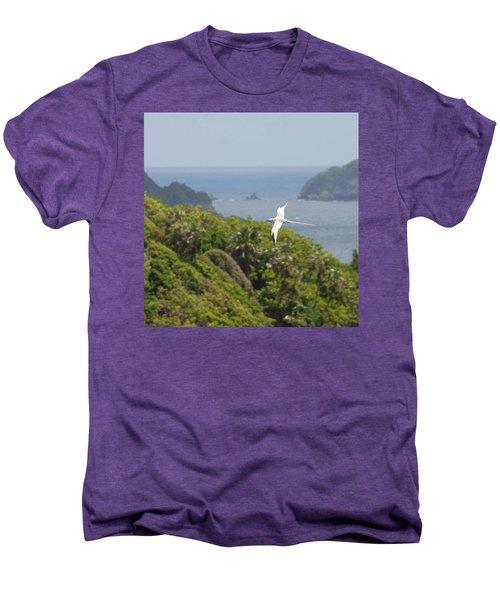 A Red-billed Tropicbird (phaethon Men's Premium T-Shirt