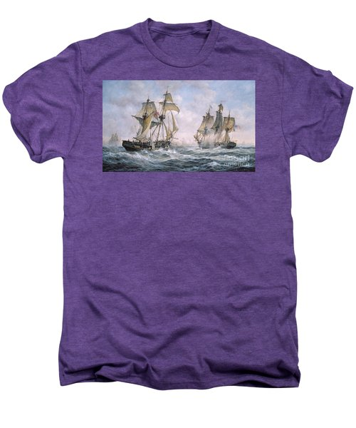 Action Between U.s. Sloop-of-war 'wasp' And H.m. Brig-of-war 'frolic' Men's Premium T-Shirt