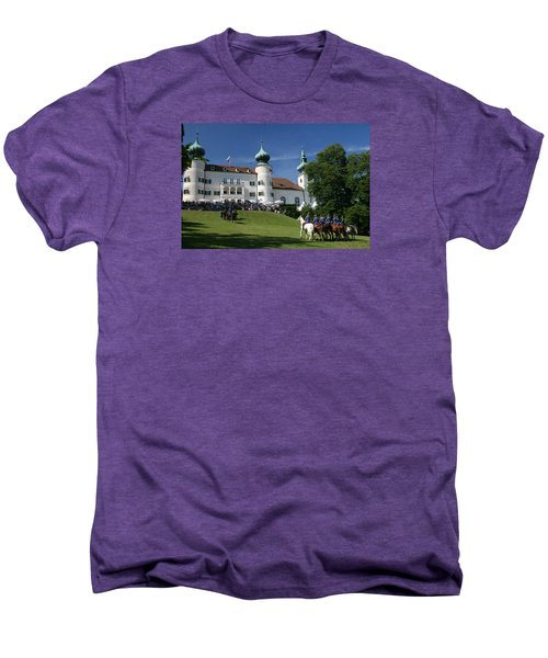 Men's Premium T-Shirt featuring the photograph Artstetten Castle In June by Travel Pics