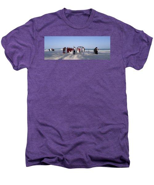 Beach Panoramic Wedding  Men's Premium T-Shirt