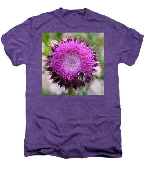 Bee On Thistle Men's Premium T-Shirt