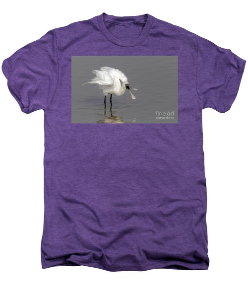 Black-faced Spoonbill Men's Premium T-Shirt by Martin Hale/FLPA