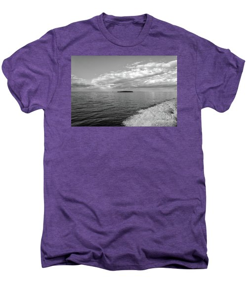 Boat Wake On Florida Bay Men's Premium T-Shirt