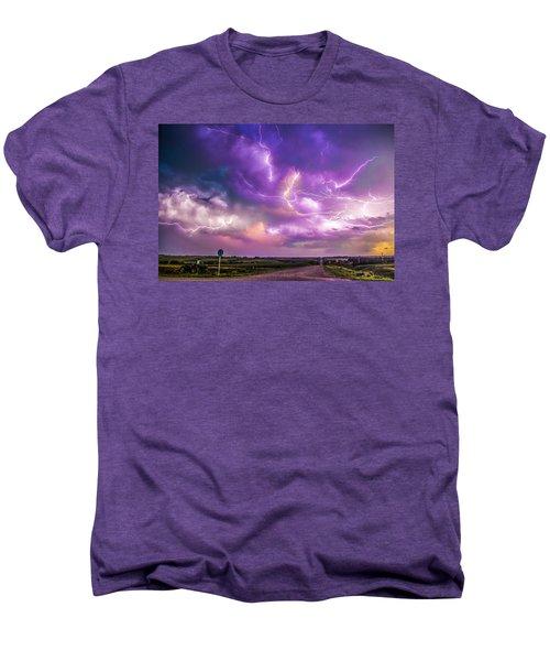 Chasing Nebraska Lightning 056 Men's Premium T-Shirt