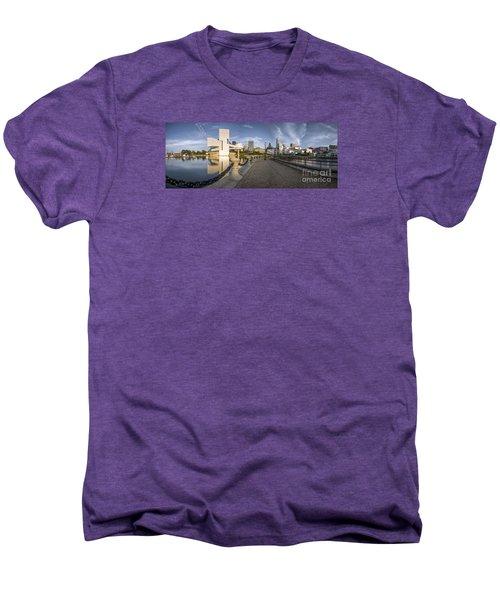 Cleveland Panorama Men's Premium T-Shirt by James Dean
