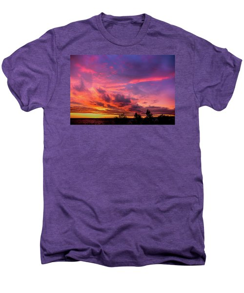 Clouds At Sunset Men's Premium T-Shirt