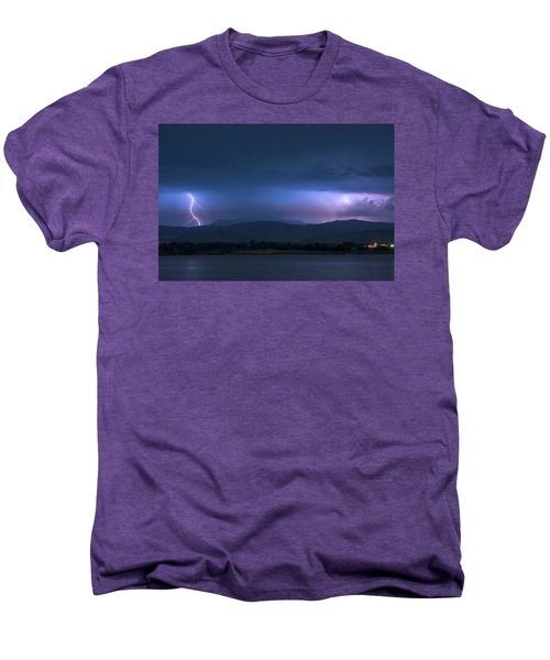 Men's Premium T-Shirt featuring the photograph Colorado Rocky Mountain Foothills Storm by James BO Insogna