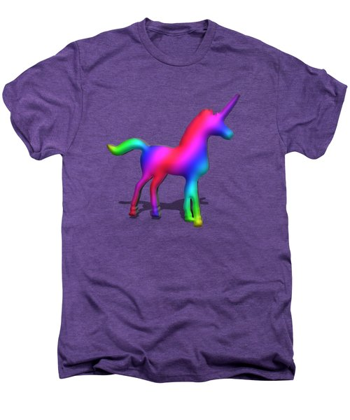 Colourful Unicorn In 3d Men's Premium T-Shirt