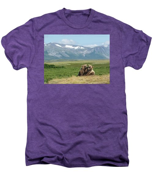 Cubs Playing On The Bluff Men's Premium T-Shirt