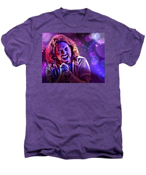 Eddie Vedder Portrait Men's Premium T-Shirt by Scott Wallace