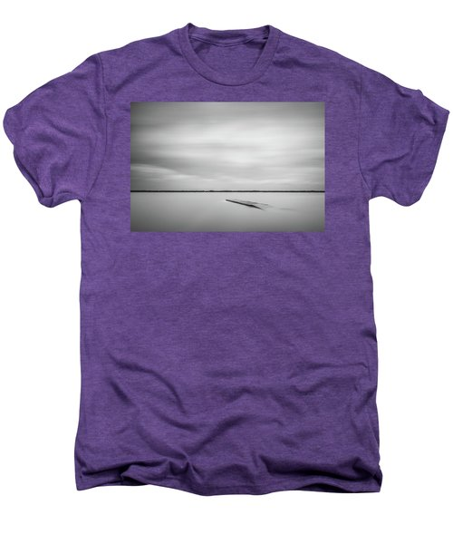 Ethereal Long Exposure Of A Pier In The Lake Men's Premium T-Shirt