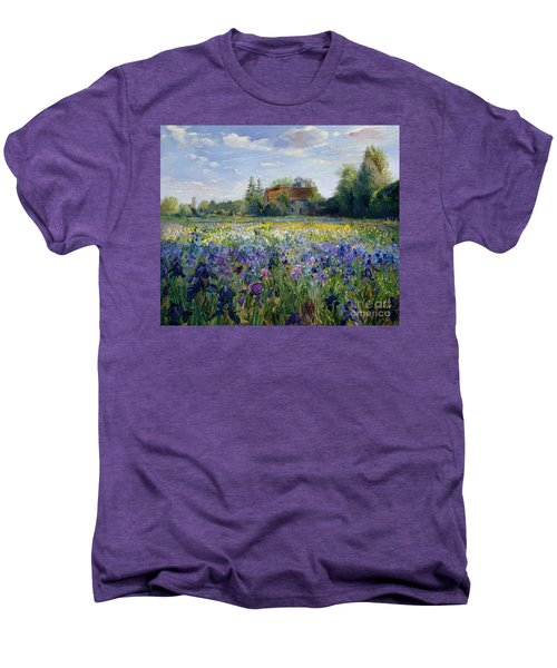 Evening At The Iris Field Men's Premium T-Shirt