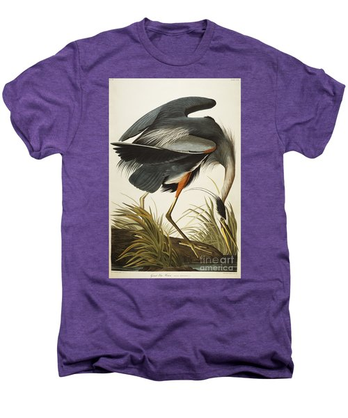 Great Blue Heron Men's Premium T-Shirt