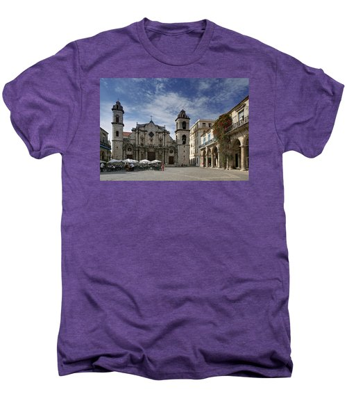 Havana Cathedral. Cuba Men's Premium T-Shirt