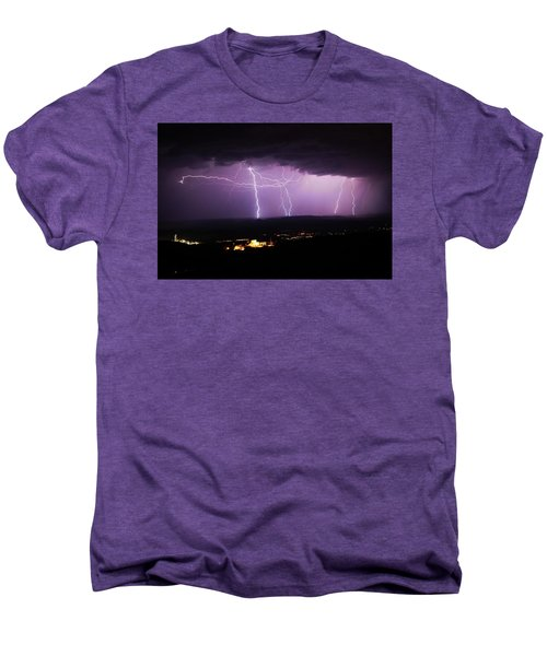 Horizontal And Vertical Lightning Men's Premium T-Shirt