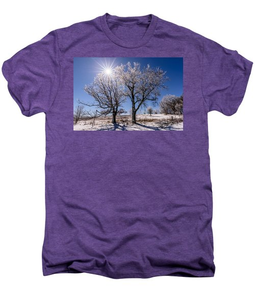Ice Coated Trees Men's Premium T-Shirt