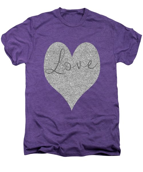 Love Heart Glitter Men's Premium T-Shirt