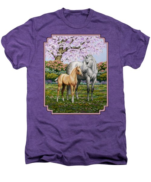 Mare And Foal Pillow Pink Men's Premium T-Shirt
