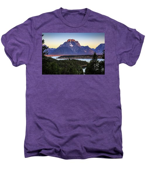 Men's Premium T-Shirt featuring the photograph Morning At Mt. Moran by David Chandler