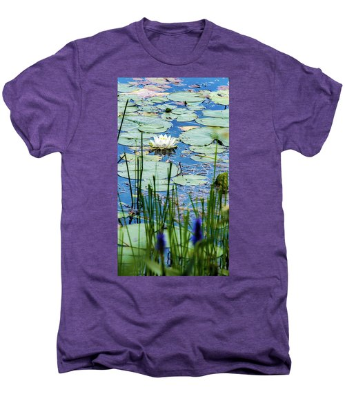 North American White Water Lily Men's Premium T-Shirt
