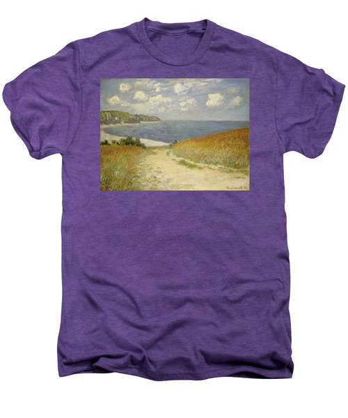 Path In The Wheat At Pourville Men's Premium T-Shirt