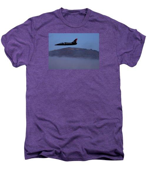Patriot Jet Skims The Fog Over San Francisco Bay Men's Premium T-Shirt