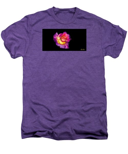Men's Premium T-Shirt featuring the photograph Rain-melted Rose by Rikk Flohr