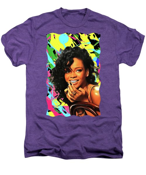 Rihanna - Celebrity Art Men's Premium T-Shirt