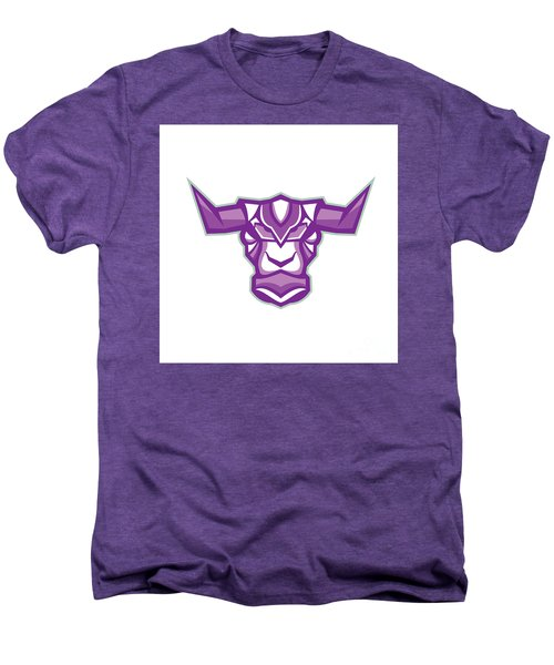Robot Yak Bull Head Front Men's Premium T-Shirt