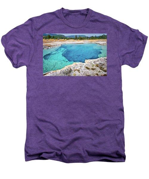 Sapphire Pool, Biscuit Basin Men's Premium T-Shirt
