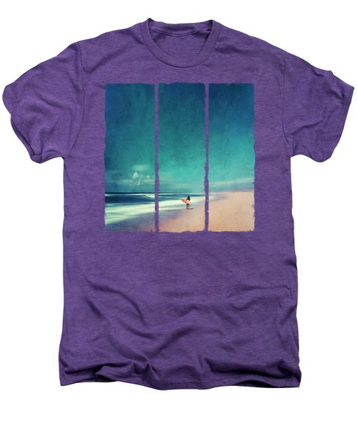 Summer Days - Abstract Seascape With Surfer Men's Premium T-Shirt