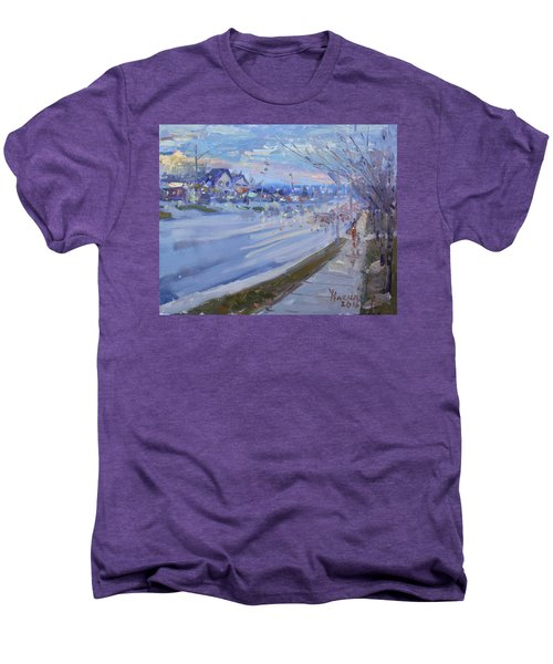 Sunset In Guelph St Georgetown On Men's Premium T-Shirt