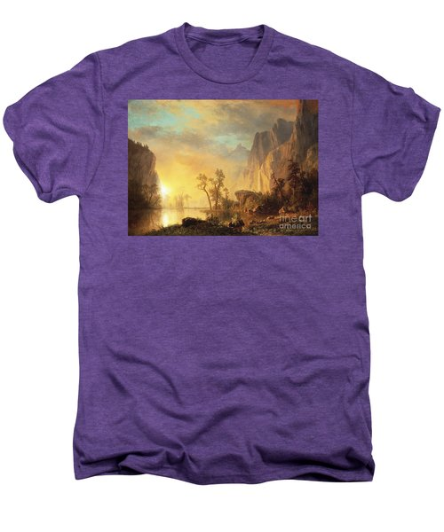 Sunset In The Rockies Men's Premium T-Shirt