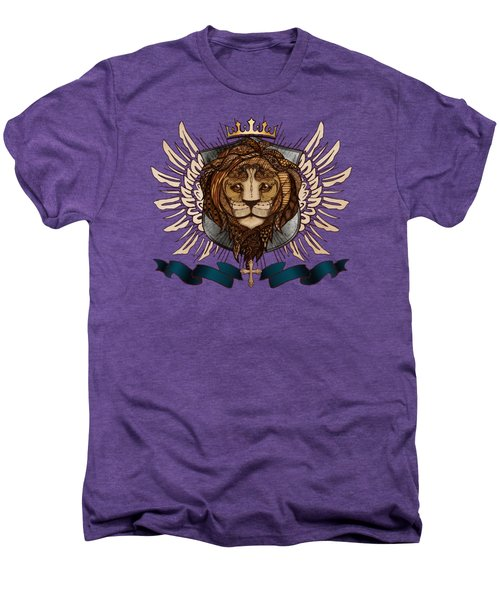 The King's Heraldry II Men's Premium T-Shirt by April Moen