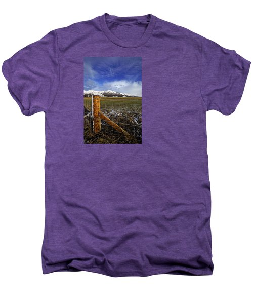 Men's Premium T-Shirt featuring the photograph The Ochils In Winter by Jeremy Lavender Photography