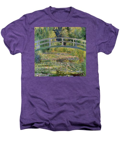 The Waterlily Pond With The Japanese Bridge Men's Premium T-Shirt