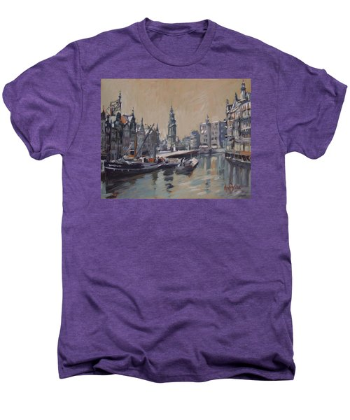 View To The Mint Tower Amsterdam Men's Premium T-Shirt by Nop Briex