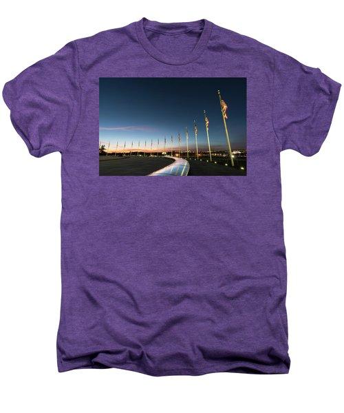 Washington Monument Flags Men's Premium T-Shirt
